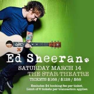 Ed Sheeran A Pair Of Cat 2 Tickets