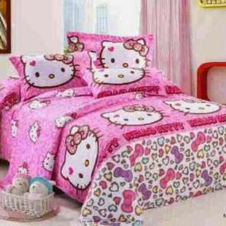 Sprei Ready Stock Sale Hellokitty Leopard Size 180 King