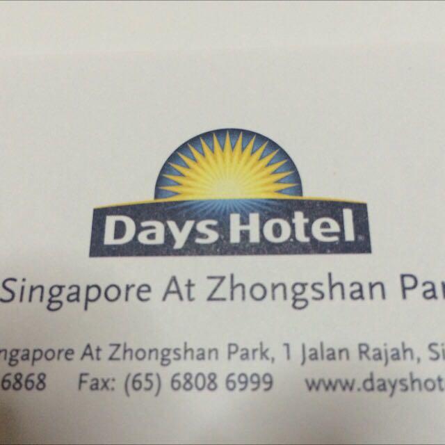 2d/1n voucher at the Days Hotel Zhongshan Park
