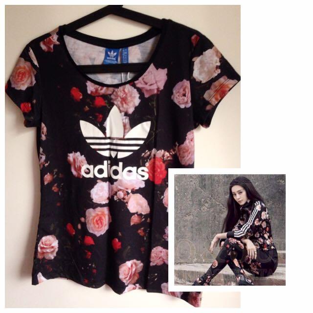 [全新]Adidas 玫瑰花系列T恤