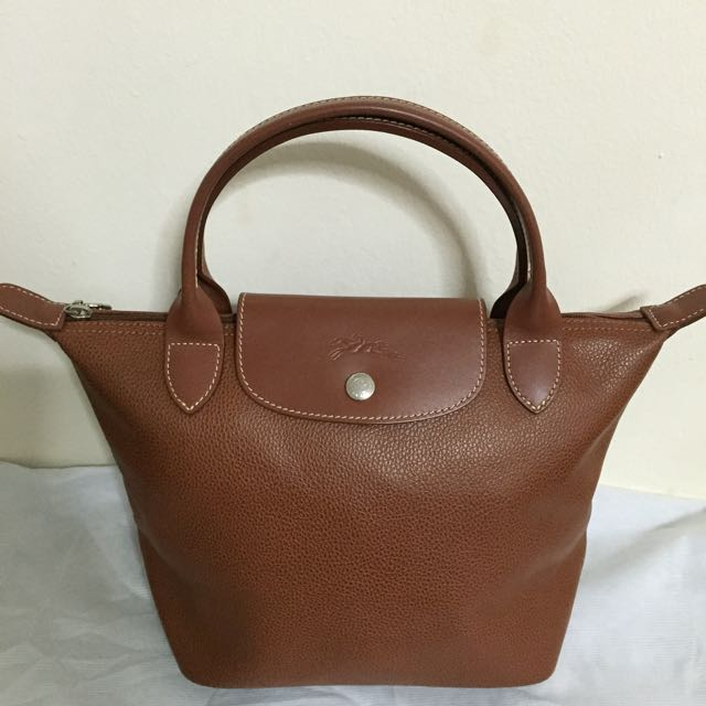 c5fcb0336b00 Authentic Longchamp Leather Bag