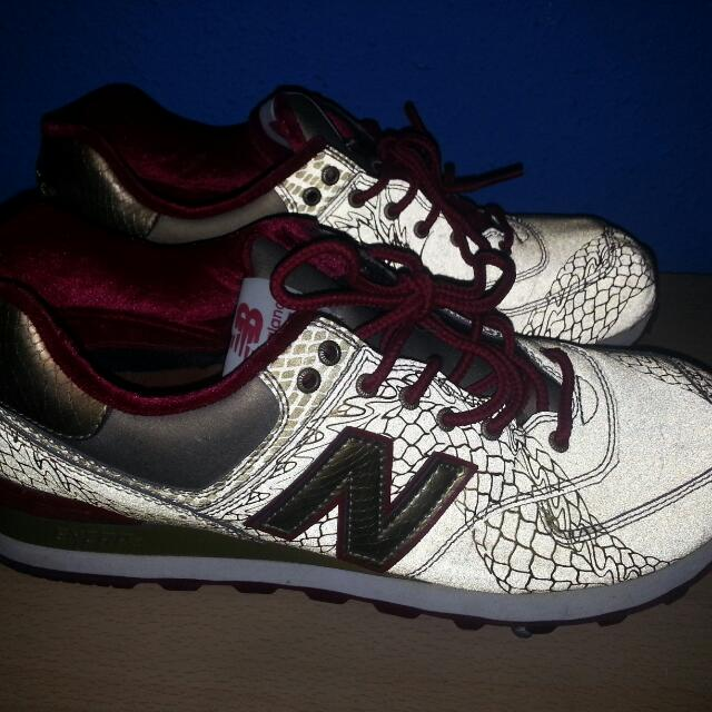 detailed look 7e5d1 e5d5b New Balance Ml574 'Year Of The Dragon' Reflective Gold 3M ...