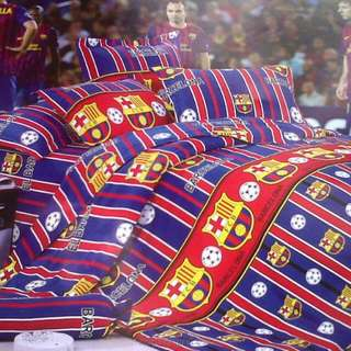 Sprei Anak Bola Barcelona Size 120 Single Ready Stock Sale