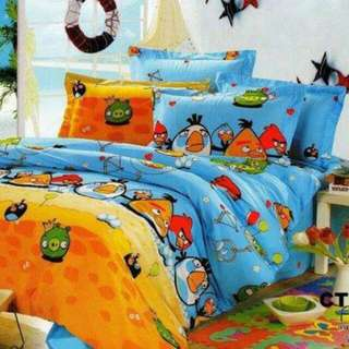 Ready Stock 1set Sprei Size120&bedcover Sale Angrybird