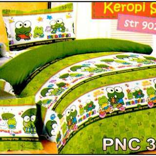 Ready Stock 1set Sprei Size120 Bedcover Single Keropi Sale