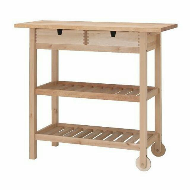 Pre-loved Forhoja Kitchen Cart from Ikea