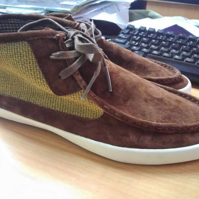 71a4a9c637 vans RATA mid leather canvas shoe