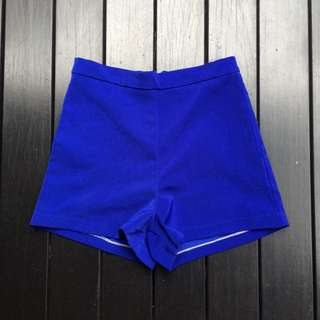 Electric Blue High Waisted Shorts