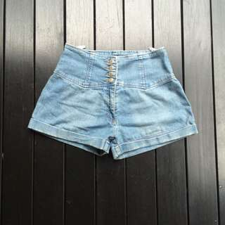 Supre Denim High Waisted Shorts