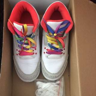 jordan 3 retro gs rainbow 5y