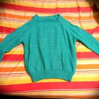 削肩蒂芬尼藍毛衣