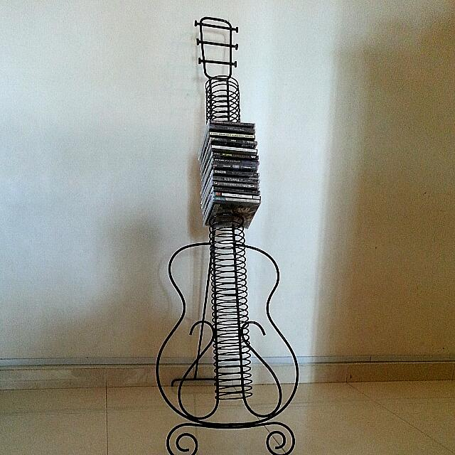 Guitar Cd Rack Able to Stall 50 Plus Cds/rock/metal/dvd, Music ...
