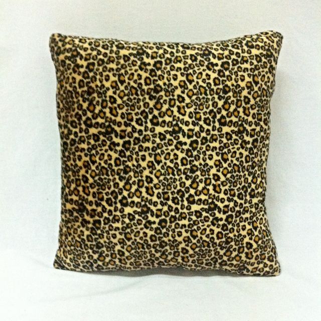 Plush Pillow Leopard Print