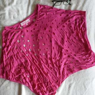 Miss Whatever Hot Pink Loose Batwing Top!