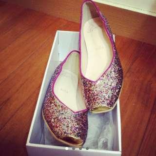 韓亮片芭蕾舞鞋