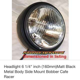 Caferacer  Headlights And Mounting Brackets