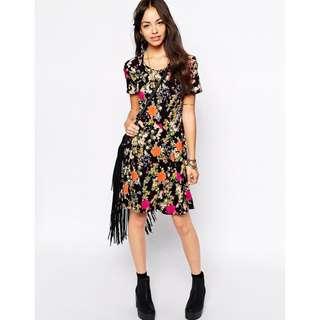 ASOS Flower Print Skater Dress