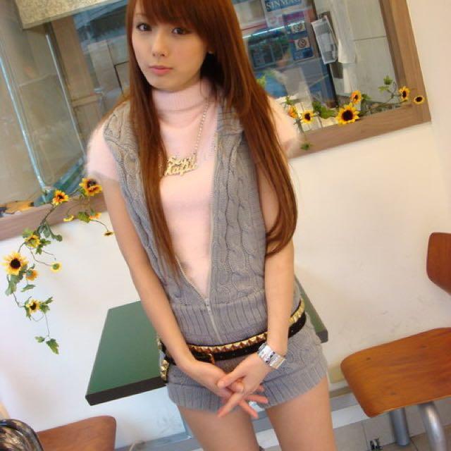 日本購回毛料吊帶連身褲