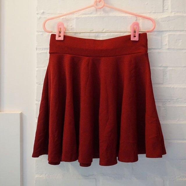 全新✨垂度超美酒紅太陽裙