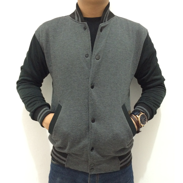 Jacket Varsity/Baseball Cotton Fleece Body Fit!