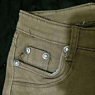 咖啡色褲 Size M 全新