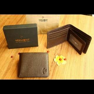 VERMONT V83-A001 Dark Brown Genuine Leather Wallet