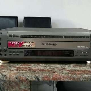 SONY VCD/LD player
