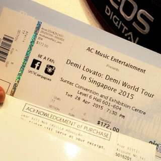 Demi Lovato World tour $150