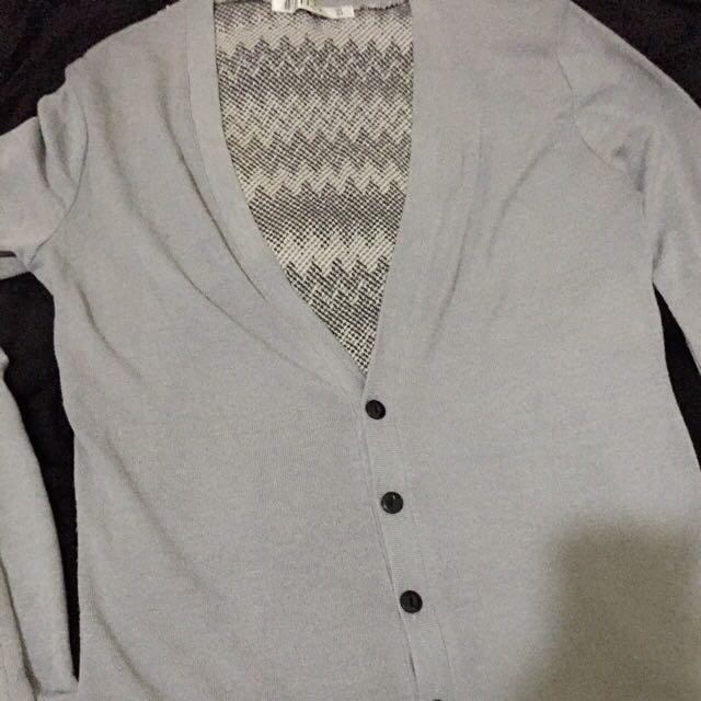 棉質圖騰休閒薄外套 袖口有小污漬 不介意者可下標