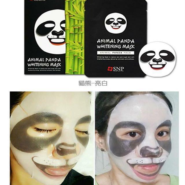 現貨🐼熊貓🇰🇷韓國 SNP 可愛動物面膜(25ml)