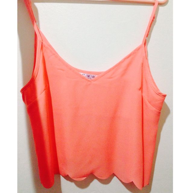 Coral Scallop Tank Top