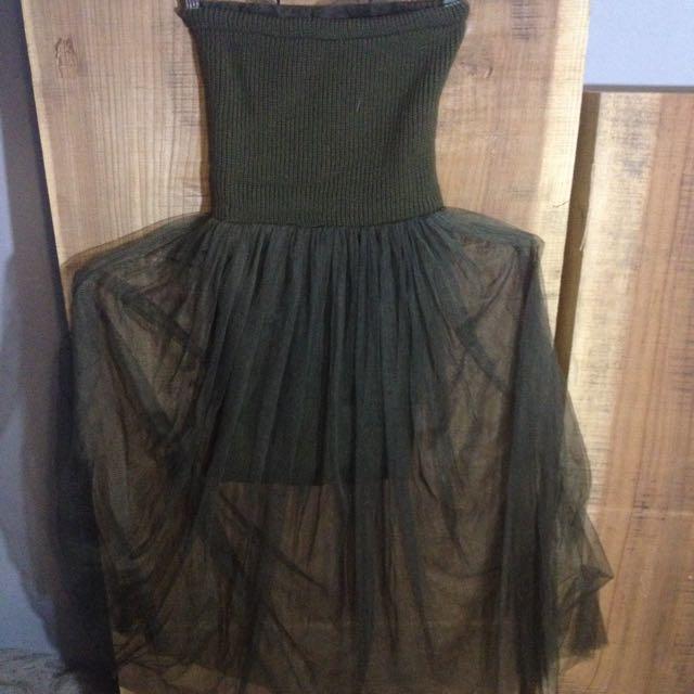 平口洋裝,size One