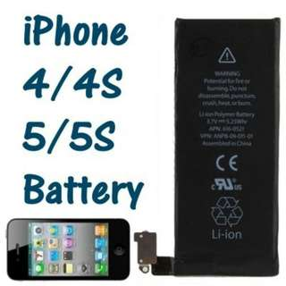 Genuine Apple iPhone 4 / 4S / 5 / 5S / SC Replacement Battery
