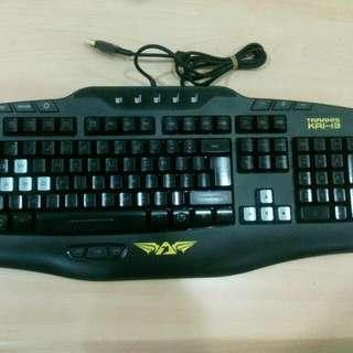 Armaggeddon Taranis KAI 13 gaming keyboard programmable macro function