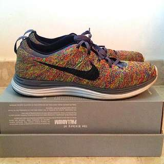 Authentic Nike Flyknit Lunar 1 Multicolor Size US 10