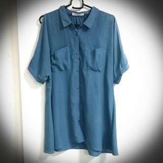 Lowry's Farm Shirt With Cold Shoulder