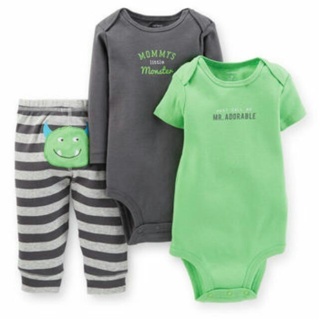 Carter's Baby Boy 3-Piece Bodysuit & Pant Set - 9M