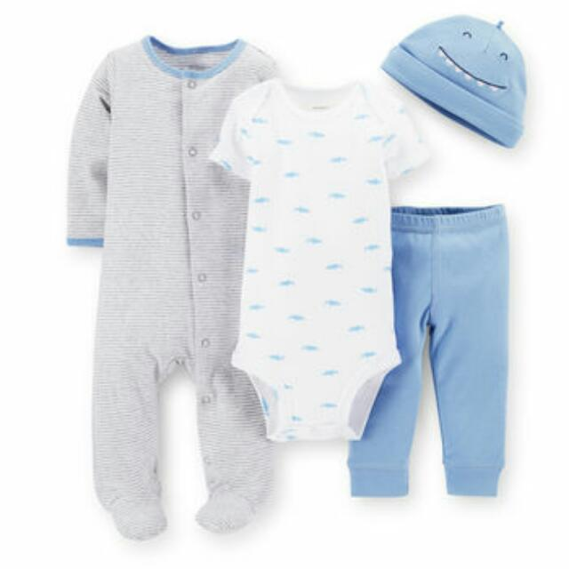 Carter's Baby Boy 4-Piece Take-Me-Home Set - 6M