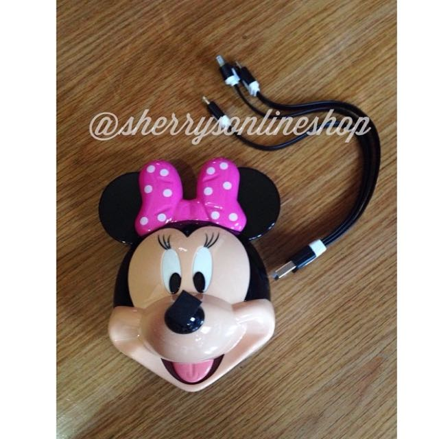 minnie mouse 12000mah powerbank