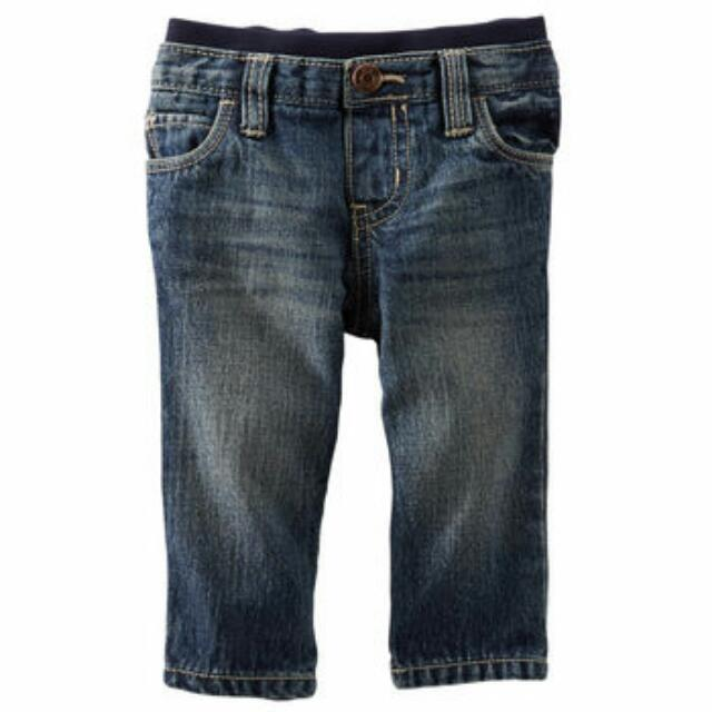 OshKosh Baby Boy Pull-On Jeans - Brooklyn Wash - 12M