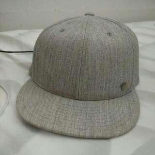 Flat Bill Hat Cap Grey by No Bad Ideas