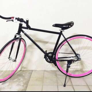 CLEARANCE Black And Pink Fixie