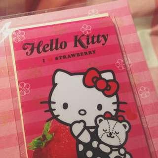 HelloKitty草莓季限定版悠遊卡(I❤️strawberry)