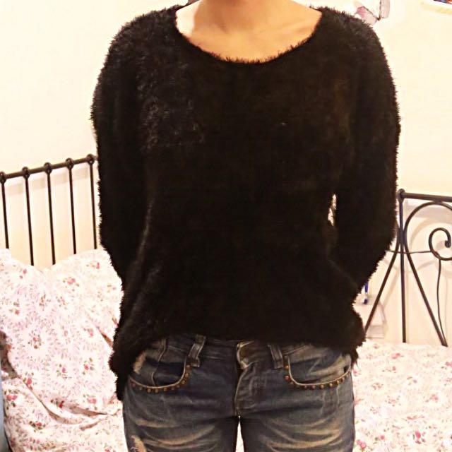 ❄️冬衣出清❄️柔軟胸前口袋前短後長毛衣