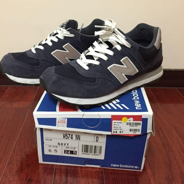NewBalance 574 深藍24.5cm