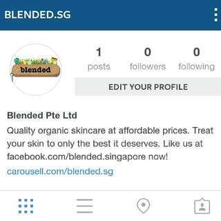 Blended In Instagram!
