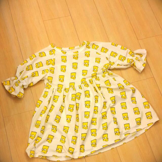 辛普森 正韓 公主袖 洋裝