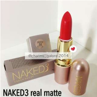 Naked3 Real Matte Lipstick