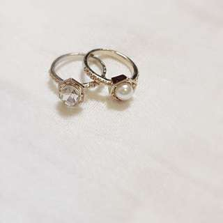 水鑽/珍珠戒指