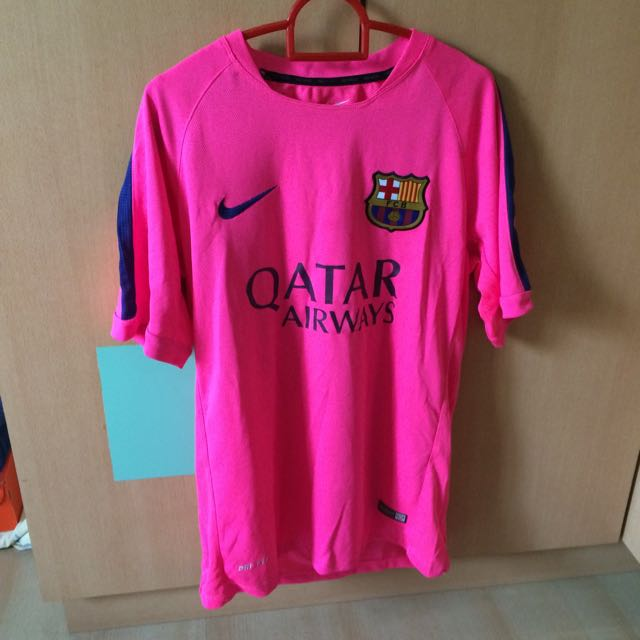 the best attitude 58432 53a60 Barcelona Training Kit (pink), Sports on Carousell